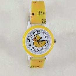 i bambini gialli guardano Sconti Trill piccolo giallo anatra donna Fondo Candy Tide tempo libero studente stampa gel di silice portare bambini orologio da polso orologio da polso al quarzo