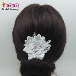 blaue perlengirlande Rabatt Neue Braut Stickerei Haarschmuck Mode Haarkämme Frauen Kopfschmuck Hochzeit Headwear Zubehör Luxus Party Ornamente