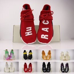 2019 Human Race colette Nerd Breathe Walk Runner Original Nuevo Zapatillas de running Hombres Mujeres Pharrell Williams HU Primeknit Sport Sneaker desde fabricantes