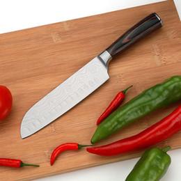 2019 ножи по-японски 7CR17 Дамаск Нож Из Нержавеющей Стали Кухонный Нож Японские Ножи Шеф-Повара Шлифовальные Лазерная Вырезка Овощное Мясо Фрукты Нарезки Нож BC BH1477 дешево ножи по-японски