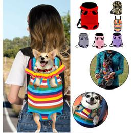2019 sacs à provisions pour chiens en gros Pet Dog Carrier Backpack Mesh Camouflage En Plein Air Voyage Produits Respirant Poignée D'épaule Sacs pour Petit Chien Chats Chihuahua