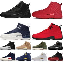 Yeni 12 s Winterized WNTR Spor Kırmızı Michigan Erkek Basketbol Ayakkabıları Master Grip Oyunu Taksi 12 erkekler spor sneakers tasarımcı eğitmenler ayakkabı ABD 7-13 nereden