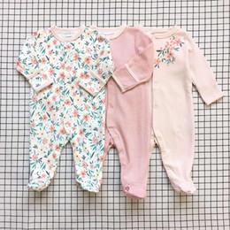 2019 plaid baby rompers Baby Rompers 3pcs Puro cotone avvolgere Rompe manica tuta neonato appena nato vestiti infantili neonate vestito tuta Roupas de bebe abbigliamento sconti plaid baby rompers