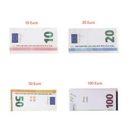 Pellicola del giocattolo online-100pcs / set Prop Copia denaro falso Strumento di apprendimento per bambini Giocattoli per film Video 20/10/50/100 Euro 100 Dollari