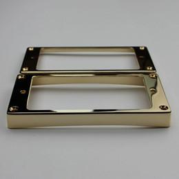 1 комплект золото хамбакер шеи и мост пикап Рам Pickup монтажное кольцо изогнутые конические для LP электрическая гитара от