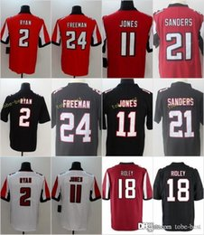 negro camiseta de julio jones Rebajas Camisetas de los Atlanta Falcons de los hombres Ridley 11 Julio Jones 2 Matt Ryan 24 Devonta Freeman 21 Deion Sanders Home Red Black cosido Jersey ventas