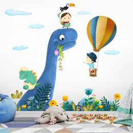 pegatinas de dinosaurio removibles Rebajas Pegatinas de dibujos animados para habitaciones de niños lindo pequeño dinosaurio tatuajes de pared del bebé Nursery Animal Home Decor Art extraíble Q190605