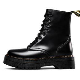 Hot Marken Männer Stiefel Martens Leder Winter warme Schuhe Motorrad Herren Ankle Boot Doc Martins Fur Paar Oxfords Schuhe