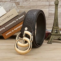 Canada Ceinture de marque de luxe mâle large 3.8cm mode hommes et femmes loisirs ceinture haute qualité solide double lettre boucle de cuivre Offre