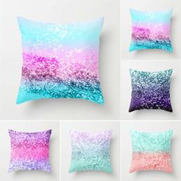 2019 liebesentwurfsfallabdeckung Brand New Glitter Peach Skin Bunte Pillowcase Glitter Peach Skin Dekokissen Fall