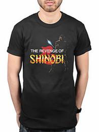 Официальная Sega Revenge Of Shinobi Ретро футболка Классическая игра Товары Genesis от Поставщики игра sega genesis