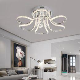 2019 lustre de la chambre principale Lustre en cristal moderne LED pour salon chambre des maîtres chambre Cristal Lustre finition Chrome 110V 220V Accueil Deco Lustre promotion lustre de la chambre principale