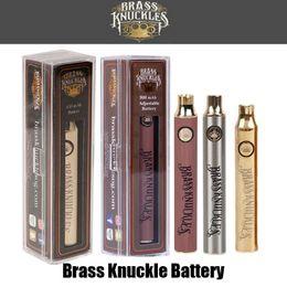 Hot Brass Knuckles Vape Batterie 650mAh Gold 900mAh Variable Voltage Einstellbare E-Zigarette Batterie Stift für 510 Gewinde dicke Ölpatrone von Fabrikanten