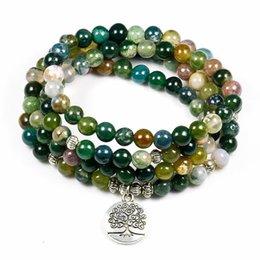 Canada Mode Femmes Indian Onyx 108 Mala Perles Bracelet Multi-couche Haute Qualité Lotus Charme Nouveau Design Yoga Bracelet Pour Hommes Bouddha cheap indian mala Offre