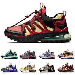 Fotos de hombres calientes online-nike air max 270 venta caliente bowfin hombres zapatos para correr verde azulado oscuro Negro rojo de gris para hombre del tamaño de las zapatillas de deporte entrenador 40-45