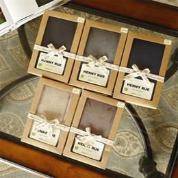10 de papel de regalo paquete de la caja de las PC DIY Kraft color de la vendimia con PVC transparente ventana favores dulces artskrafts caja de embalaje de presentación desde fabricantes