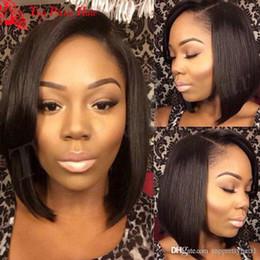 chinelo bang corpo onda cabelo Desconto Bob perucas para mulheres afro-americanas lado parte virgem peruana glueless peruca cheia do laço bob corte curto lace frente barato perucas de cabelo humano