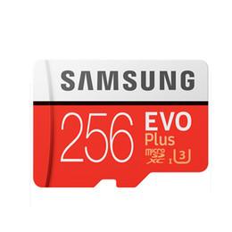 2019 256gb sdhc Em estoqueSamsung Original EVO + Cartão de Memória 32 GB MB-MC32G EVO além de U3 128 GB 256 GB Classe10 SDHC SDXC Cartão de Memória da Câmera CCTV desconto 256gb sdhc