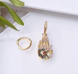 formas de encantos afortunados Desconto Jóia de luxo S925 brincos de prata esterlina Lucky palm forma Assimétrica charme brincos para mulheres hot fashion