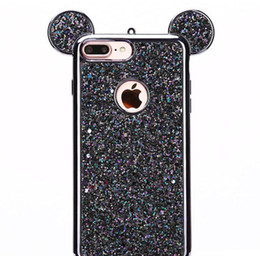 2019 apple i6s telefone Orelhas dos ratos 3d soft case capa case para apple iphone 6 6 s plus luxo glitter bling casos de telefone celular i6s plus casos apple i6s telefone barato