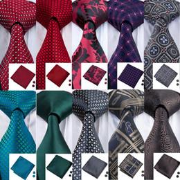 33 estilos de corbata para hombre Lazos de seda de colores Jacquard clásico tejido tejido Hanky Gemelos Set para la fiesta de negocios Corbatas de boda desde fabricantes