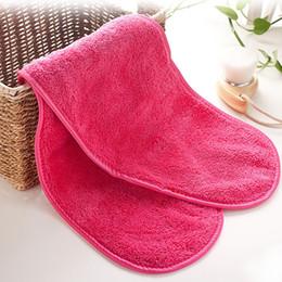 18 * 40 cm removedor de maquiagem towel micro tecido natural reutilizado limpeza rosto towel facial limpar panos de lavar pano nupcial presente do partido w8388 de