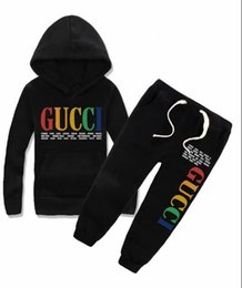 Tutu giacche online-2019 New classic Luxury Designer Baby t-shirt jacket Pantaloni Two-piec 2-7 anni olde Suit bambini moda bambini 2pcs set di abbigliamento in cotone