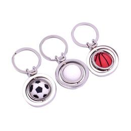 Deutschland 3D Sports European Style Golf Schlüsselanhänger Basketball European Cup Fußball Stereo Rotating keychain Gedenkgeschenke Versorgung