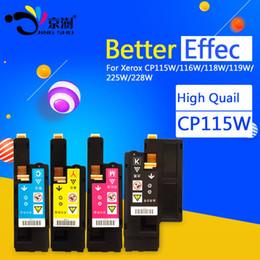 4pcs=1set CP115W Toner Cartridge Compatible for Fuji  CM115w CM115 CM225w CM225 CP115w CP115 CP116w CP225W CP225 printer supplier xerox compatible toner cartridges от Поставщики совместимые картриджи с тонером xerox