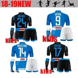 18 19 Kids kit Napoli soccer jersey home away Champions League 18 19 Naples  ZIELINSKI HAMSIK INSIGNE CALLEJON PLAYER ROG 3RD football shirts napoli  jersey ... 8cf146ef3