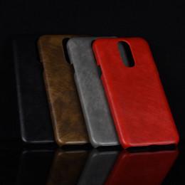 Deutschland Neu für lg q7 q610em q7 plus case für lg q7 + retro pu leder litschi muster haut hard cover für lg q7 alpha q610fs phone case supplier alpha phone Versorgung