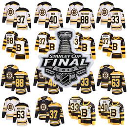 2019 Stanley Cup Finals camiseta Boston Bruins 37 Patrice Tuukka Rask David Krejci Brad Marchand David Pastrnak Hockey Jersey desde fabricantes
