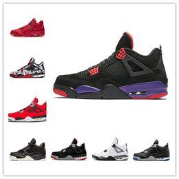 22221e1c9003 4 Raptors Tattoo Hot Punch scarpe da basket Travis Scott 4s Cactus Jack  Puro denaro Pizzeria Black Cat Gum Men sneakers scarpe da ginnastica scarpe  sportive