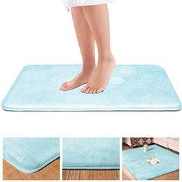 Blancos baño alfombra baño tapete baño alfombrilla de baño 50x80cm con Memory-Foam