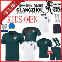 Италия прочь джерси онлайн-новый 2020 2021 трикотажных изделий футбола Италии третьего AWAY WHITE 20 21 Renaissance Italia рубашки футбола Малия Verratti Жоржиего Romagnoli MAN + KIDS