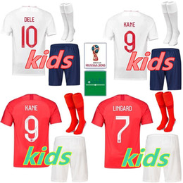 yellow football socks Promo Codes - kids kit+socks england soccer jersey ROONEY STERLING VARDY KANE DELE ADULT KIT SHORTS SOCKS JERSEY HOME AWAY RED SHIRT football SHIRTS