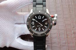 N montre DE luxe anillo de cerámica boca, caja de reloj de acero de precisión 2836 movimiento mecánico automático relojes relojes de diseño desde fabricantes