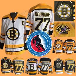 2019 bourque trikot 77 Ray Bourque Trikot 2004 Hall Of Fame Eishockey Boston Bruins Trikots CCM Vintage Schwarz Weiß Winter Classic günstig bourque trikot