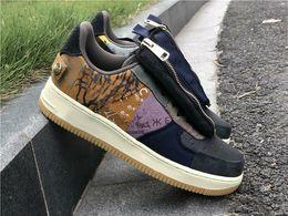 Estilos do jaque on-line-2019 New Style Travis Scott x 1 Low Cactus Jack Multi Color Muted Bronze fósseis Sports Shoes Homens Mulheres CN2405-900 Tamanho US12