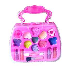 Ko online-Neu Kommen Kinder Pretend Play Makeup Kit Kleine Mädchen Kosmetik Set Spielzeug für Mädchen Geburtstagsgeschenk Lernen Beauty Kits 2019