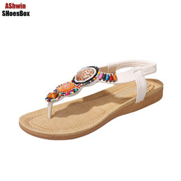 f248e84325e0 bohemia thong sandals handmade beads string vintage beach flats sandal flip  flops comfort walking shoes ethnic gladiator sandals on sale