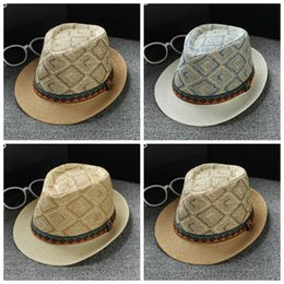 46d90279a2e Bohemian Style Hat Straw Cap Stingy Brim Hats Jazz Adult Sunshade Summer  Beach Retro Color Mix 7 4km F1