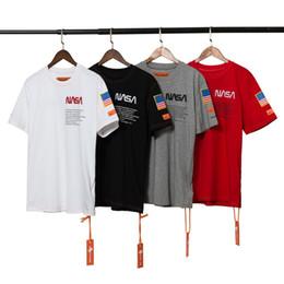НАСА Heron Preston Мужские футболки НАСА Мужские дизайнерские футболки Мода Мужчины Женщины Рубашки Футболки 4 цвета Размер M-XXL от Поставщики черная бумага