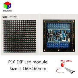 Rgb-außenmodul online-P10 regendicht staubvolles Outdoor-LED-Anzeigemodul 160 mm * 160 mm 1/4 Scan-LED-Modul für P10 RGB-LED-Videowand