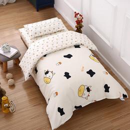 Baby-duvet-sets online-3 Teile / satz Baumwolle Kinderbett Bettwäsche Kit Cartoon Baby Bettwäsche Set für Jungen Mädchen Einschließlich Kissenbezug Bettlaken Bettbezug
