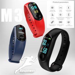 2019 regarder le coeur Top vente M3 plus Smart Band bracelet bluetooth Montre de fréquence cardiaque Activité Fitness Smart Tracker PK fitbit XIAOMI montre apple promotion regarder le coeur