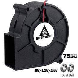 Resfriamento dc ventilador on-line-bombear Gdstime 7530 5 12V 24V 2Pin 75x75x30mm Radial Turbo 7530 70 milímetros DC Cooling Blower Fan