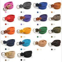 2019 cinto elástico tecido Misturar 18 cores crianças cintos de moda Casual cintos de Tricô para crianças Super tecido elástico meninos meninas cintos Spot várias cores atacado