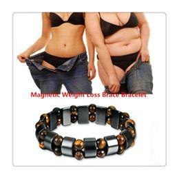 braceletes dhl grátis Desconto Heath Care Pulseira Magnética Pulseiras de Perda de Peso Saúde Cadeia Mão Pulseira De Pedra Preta Artrite Alívio Da Dor Terapia Magnética Livre DHL
