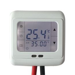 Pavimenti riscaldati online-16A Digital Touch Screen Riscaldamento a pavimento Termostato Ambiente Controllo temperatura calda Controllo automatico con retroilluminazione LCD